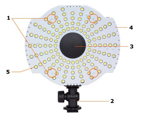 LED Videoleuchte CN-B126 Vorderseite