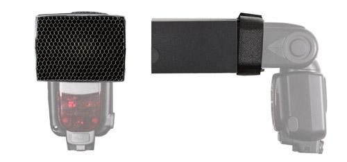 Mini-Lichttubus 7,5x5,5 cm mit Wabenvorsatz Ø 4 mm