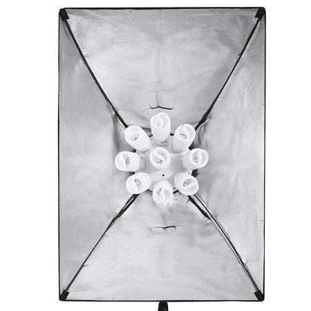 LIFE of FOTO Daylight Kit ES-955-45 mit Softbox 60x90 cm