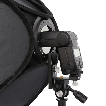 METTLE Systemblitz-Softbox Set 60x60 cm mit stabilem Neiger